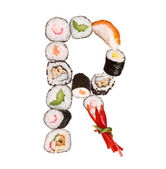 Sushi letter — Stock Photo