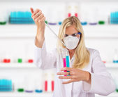 Laboratory assistant — Stock Photo