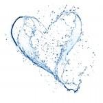 Water heart — Stock Photo