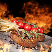 Rindfleisch-steaks — Stockfoto