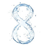 Número de água — Foto Stock
