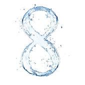Numero di acqua — Foto Stock