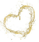 Champagne heart — Stock Photo