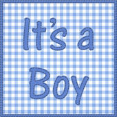 It is a boy baby announcement — Stock Photo