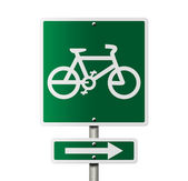 Bike Route this way — Stock Photo