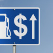 The price of gas increasing — Stock Photo