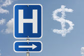 Cost of going to the hospital — Stock Photo