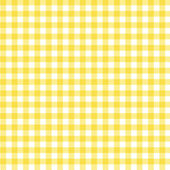 Yellow Gingham Fabric Background — 图库照片