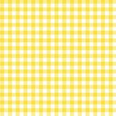 黄色方格布式织物背景 — 图库照片