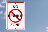 No Peanut Zone — Stock Photo