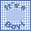 It is a boy baby announcement — Foto de Stock