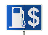 The price of gas — Stock Photo