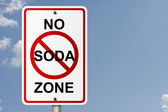 No Soda Zone — Stock Photo