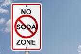 No Soda Zone — Stock Photo