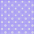 Purple Gingham Fabric Background — Stock Photo