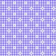 Purple Gingham Fabric Background — Stockfoto