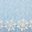 Stock Photo: Snowflake Border