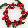 Holly Berry Wreath — Stockfoto