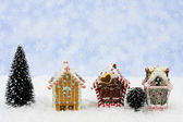 Gingerbread Houses — Stock fotografie