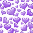Purple Hearts Background — Stock Photo #11957506
