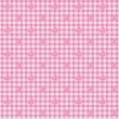 Pink Gingham Fabric with Ducks Background — Stock Photo