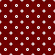 Burgundy Flower Fabric Background - Stock Photo