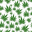 Stock Photo: MarijuanLeaf Seamless Background