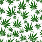 大麻叶无缝背景 — 图库照片