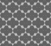 Modello senza saldatura esagonale con linee — Vettoriale Stock