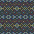Ethnic colored pattern — Imagen vectorial