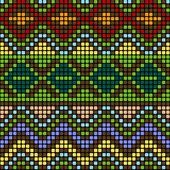 Pattern with multicolored elements — Stock Vector