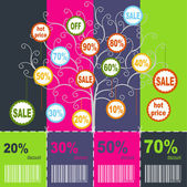 Sale coupons — Stock Vector