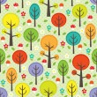 Forest seamless background - Stock Vector