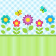 Flowers and butterflies - Stock Vector