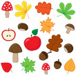 Autumnal set — Stock Vector #11988322