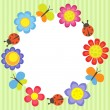 Flower frame — Stock Vector