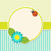 Frame with flower — Stock Vector