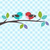 Par de pájaros — Vector de stock