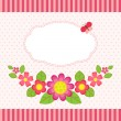 Floral card with a frame - Stock Vector