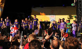 Londýn 2012 olympijská pochodeň relé koncert — Stock fotografie