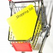 Shopping list — Stockfoto