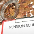 Stock Photo: Pension scheme