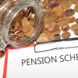Pension scheme — Stock Photo