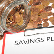Stock Photo: Savings plan