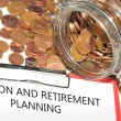Pension and retirement planning — Stock Photo
