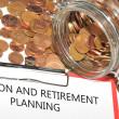 Pension och pensionering planering — Stockfoto