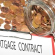 Mortgage contract — Stock Photo #11555175