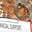 financial support — Stock Photo