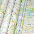 Maps folded — Stock Photo
