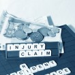 Injury claim — Stock Photo